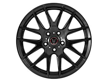 "Wolfrace Munich Gloss Black 20"" VW T5 T6 Alloy Wheel & Tyre"
