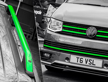 Green Edition Full Front Grille Set & Roof Bars - VW T6 2015>
