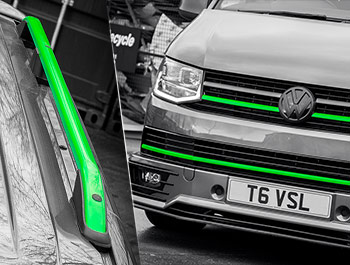 Green Edition Front Grille Upper/Lower Trim & Roof Bars - VW T6