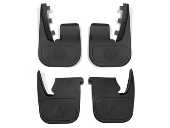 Genuine VW Front & Rear Mud Flaps Set - VW T4 1990>2003