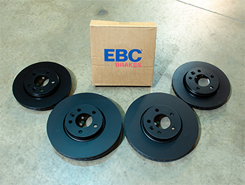 EBC OE-Replacement Brake Discs - 340mm 294mm Standard - VW T5 T6