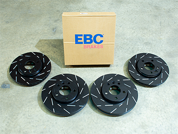 EBC Ultimax Brake Discs - 308mm 294mm Grooved - VW T5 T6