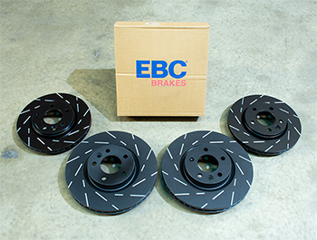 EBC Ultimax Brake Discs - 333mm 294mm Grooved - VW T5 T6