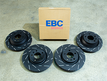 EBC Ultimax Brake Discs - 333mm 314mm Grooved - VW T5 T6