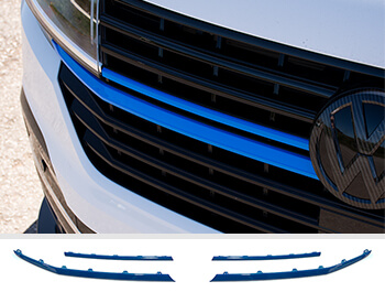 Front Radiator Grille 4pcs Full Trim Set - Blue Ed. - VW T6.1
