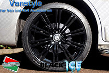 "SR1200 Wheel 18x8"" Black Ice Wheel Set of 4 - 5x112 Ford Galaxy"