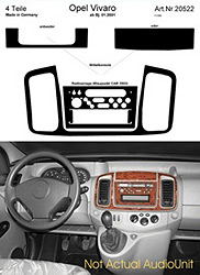 Dash Kit Audio Console for Blaupunkt CAR 2003 Vivaro Only