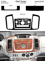 Dash Kit Audio Console for CD30 MPV Vivaro Only