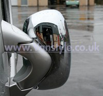 Mirror Covers, Stainless Steel, Vivaro Trafic Primastar RHD UK