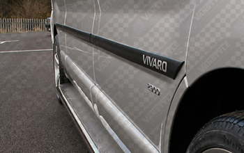 "Side Protection Molding Set Vivaro with ""Vivaro"" Letters"
