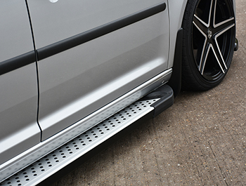 Rufford Style Aluminium Side Steps - Ford Connect SWB 2014>