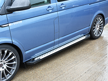 Rufford Style Aluminium Side Steps - Toyota Proace MEDIUM 16>