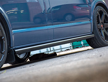 Gloss Black 60mm Straight Cut Side Bars - VW T5 T6