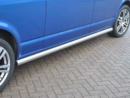Stainless Steel 76mm Trax Sidebars, VW Transporter T5/Caravelle