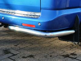 Stainless Steel 60mm Rear Corner Bars, VW T5 & Caravelle