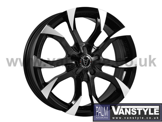 "Wolfrace Assassin Black & Polished 8x18"" Wheel & Tyre Package"