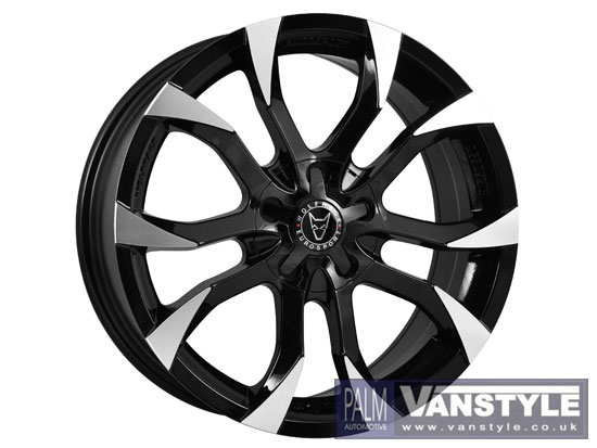 "Wolfrace Assassin Black-Polished 8x18"" 5x120 VW T5"