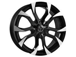"Wolfrace Assassin Black Polished 8x18"" Wheel Package 5x118"