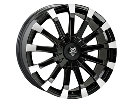 "Wolfrace Renaissance Black & Polished 18"" VW T5 T6 Wheels & Tyre"