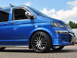 "Calibre Altus 22\"" Black & Polished Load Rated Alloy Wheels VW T5"