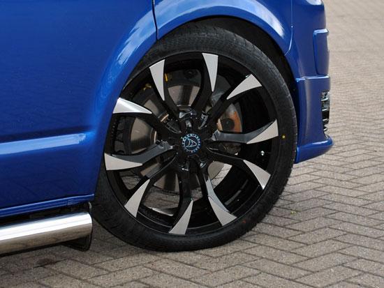 "Wolfrace Assassin Black-Polished 8.5x20\"" 5x120 VW T5"