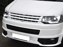 VW T5 10-15 'Sportline' White Badgeless ABS Front Grille