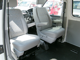 Swivel Base Seat Box With Integrated Safe VW T5