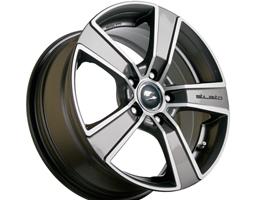 SR1900 18x8 Gunmetal Diamond Set of 4 Wheels 5x120 VW T5