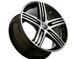 SR2000 18X8 Black Diamond Set of 4 Wheels 5x120 VW T5