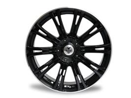 "Wolfrace Vermont Sport Black 20x8.5\"" 5x120 Set of 4 VW T5"