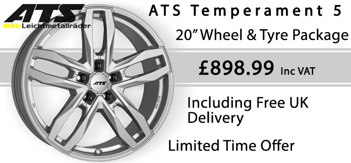 ATS TEMPERAMENT 5 20 WHEEL & TYRE SPECIAL OFFER