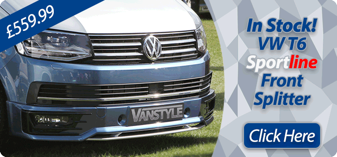 VW T6 2015> Sportline OE Front Splitter Spoiler