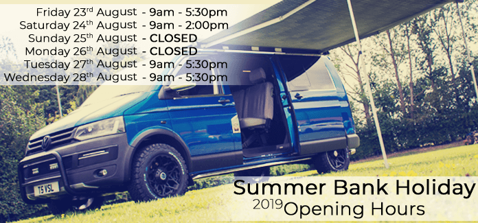 Summer 2019 Bank Holiday Opening Hours