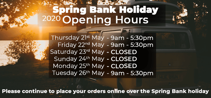 Spring Bank Holiday Opening Hours 2020