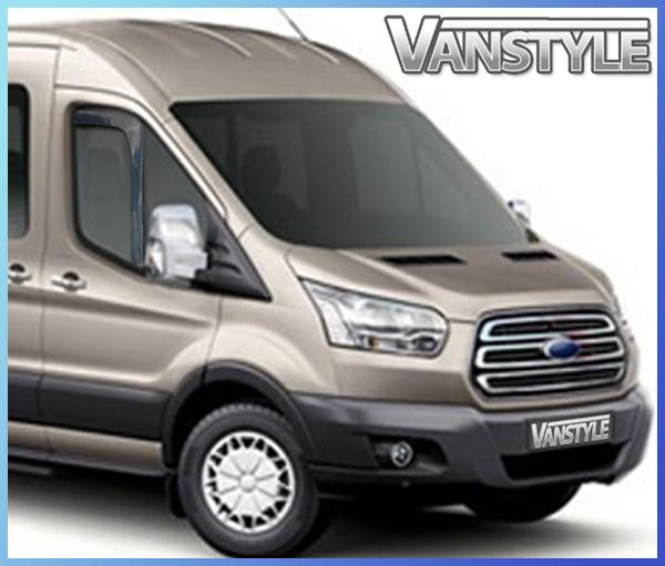 Ford Transit Mk8 Side Window Wind Deflectors 2014 Vanstyle