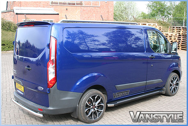 Ford Transit Custom 2012 Rear Twin Door Spoiler Vanstyle