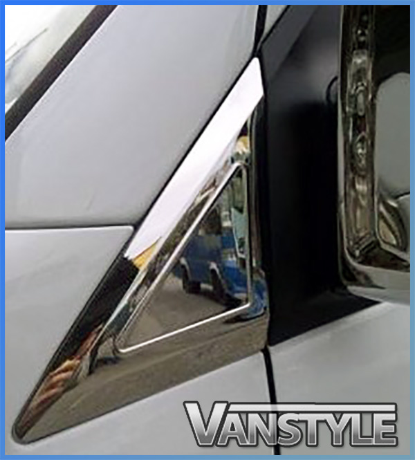 Car Exterior Styling VW VOLKSWAGEN CRAFTER CHROME QUARTER PANEL TRIM BY MIRROR MOUNT STAINLESS STEEL Car Body & Exterior Styling Parts