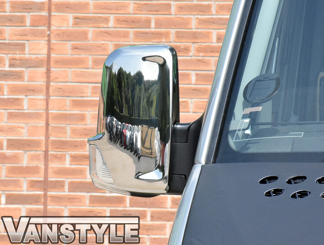 Mirror Cover Set Stainless Steel - Sprinter / Crafter 2006-18