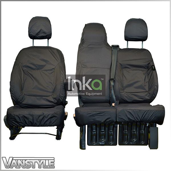 VAUXHALL VIVARO 2011 PREMIUM GREY//BLACK VAN SEAT COVERS SINGLE DOUBLE