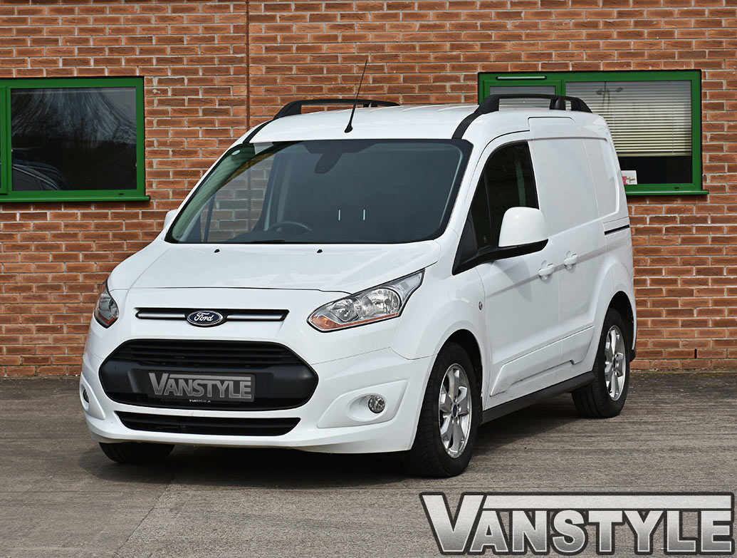 Ford Connect 14 SWB Aluminium Matt Black Roof Bars - Vanstyle