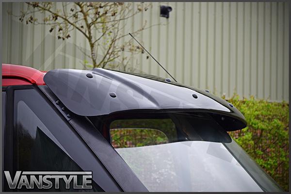 Black Acrylic High Impact Sun Visor - Ford Transit Mk6 Mk7 - Vanstyle 3966d36a4d1