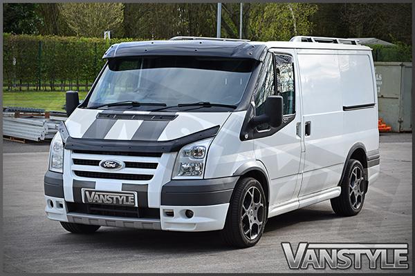 Black Acrylic High Impact Sun Visor - Ford Transit Mk6 Mk7 - Vanstyle b79bfab82af
