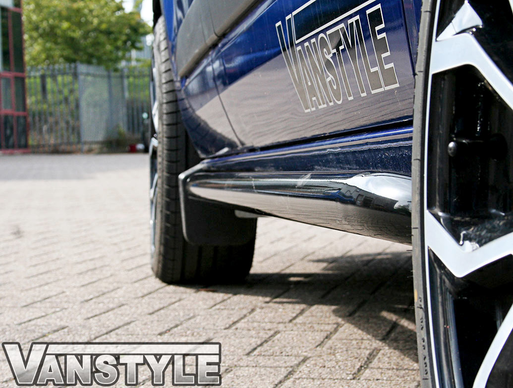 Black Side Bars Sportline Style 60mm Ford Transit Custom