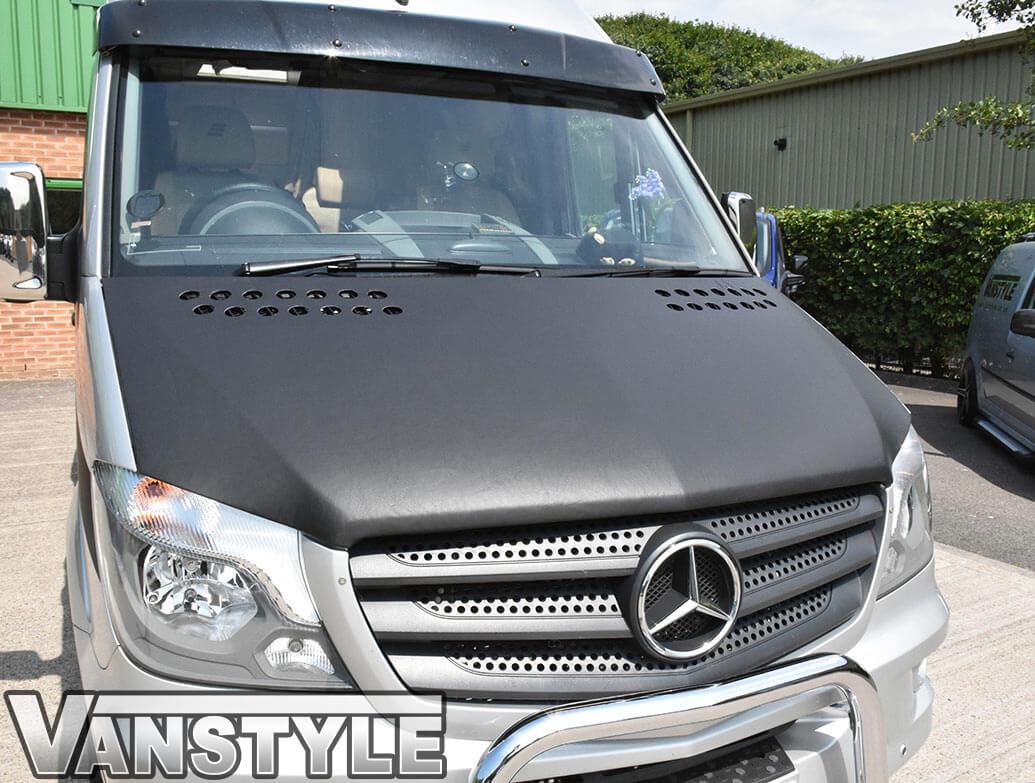 Mercedes Sprinter 2014-2018 Plain Black Full Length Bonnet Bra