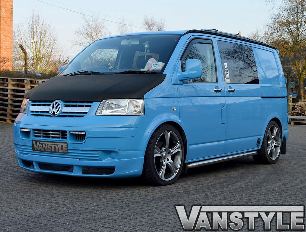 VW T5 2003-09 Full Length Bonnet Bra - Carbon Fibre Effect