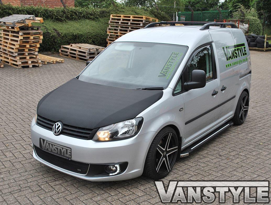 VW Caddy 2010-15 Full Length Bonnet Bra - Carbon Fibre Effect
