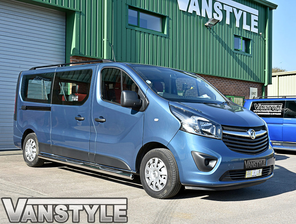 76mm Stainless Steel Side Bars (4xSteps) Vivaro/Trafic/Primastar