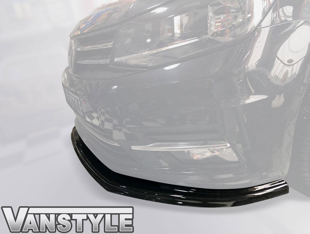 VW Caddy Mk4 2015> ABS Gloss Black Lower Front Lip Splitter