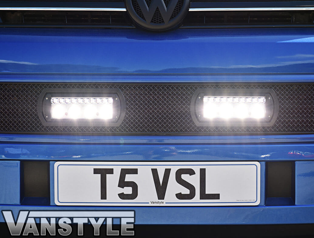 VW T5 2010-15 Zunsport Grille + Lazer Spot DRL Lights