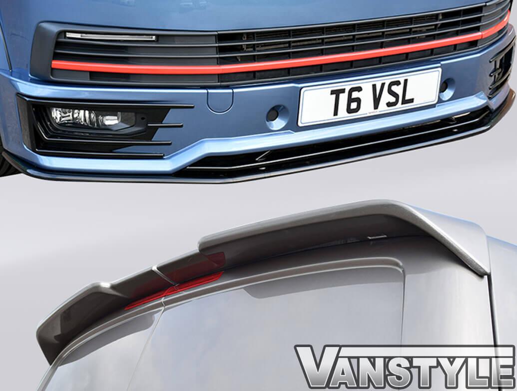 VW T6 Sportline Front Splitter + Lip Add On + Twin Door Spoiler